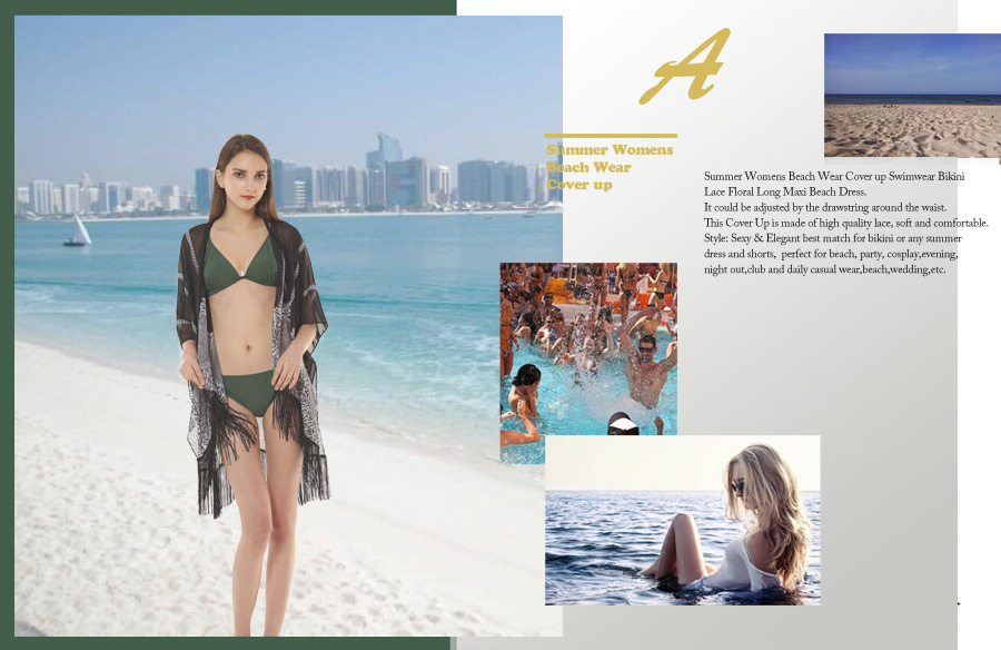 Summer Womens Swimsuit Cover Up Beach Wear Chiffon Bikini Beach ...