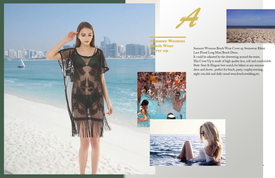 Dimore Swimsuit Cover ups for Women Bikini Lace Beach Wear Cover up ...