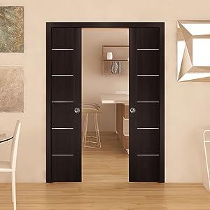 sliding pocket doors with frames pulls