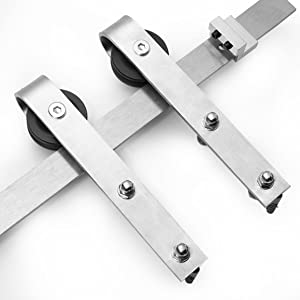 stainless hardware rail track set