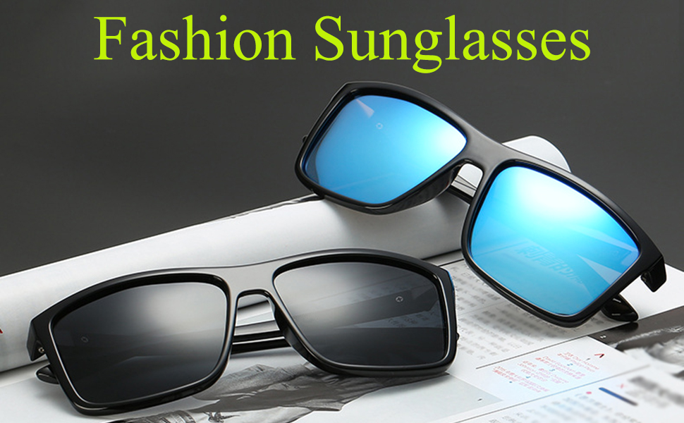 Polarized Sunglasses for Men Driving Mens Sunglasses Rectangular Vintage Sun Glasses For Men/Women
