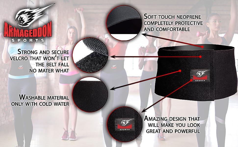 waist trimmer sweat belt for women for weight loss band workout wrap slim belt for women neoprene