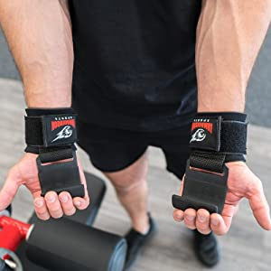 Wrist Hooks Lifting Straps weight lifting  Padded Wrist Wraps for Maximum Grip Support