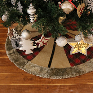 48 Inch Red And Black Christmas Tree Skirt