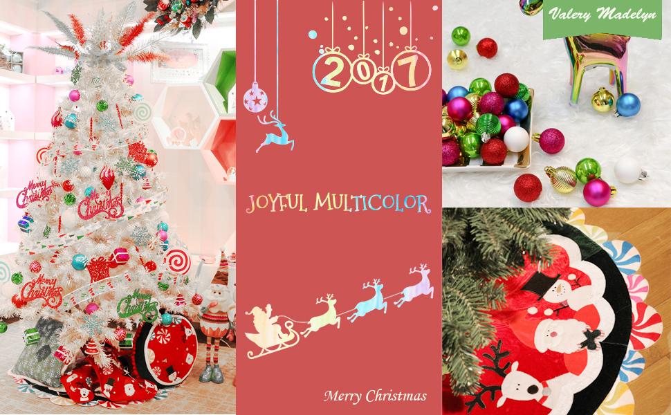 Amazon.com: Valery Madelyn 38 Inch Joyful Santa, Snowman and Deer ...