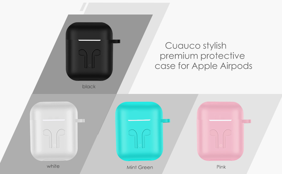 Amazon Com Cuauco 2020 Newest Airpods Case For Airpods 2 1