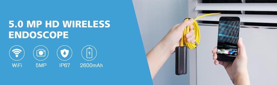 DEPSTECH 5.0 MP WiFi Endoscope