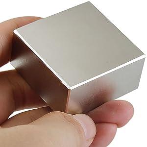 2 Pack 40X40X20Mm Big Neodymium Square Block Rare Earth Magnet Strongest N5 N9X2