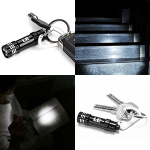 1x Colour Changing Led Light Mini Bulb Shaped Torch Keyring Keychain Free UK P/&P