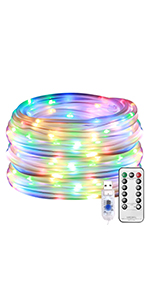 LE LED RGB Rope Lights USB Powered Waterproof Outdoor Rope Lighting for Patio Pool Deck Garden
