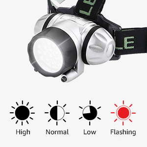 4 lighting modes headlamp