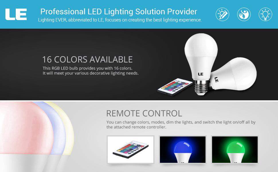 RGBW A19 LED Bulb Dimmable · A21 LED Bulbs Daylight White · A21 LED Bulbs Warm White · A19 Dimmable LED Bulbs 6 pcs · A19 Dimmable LED Bulbs 18 pcs ... & LE Dimmable A19 E26 LED Light Bulb 6W RGB 16 Colors Remote ...