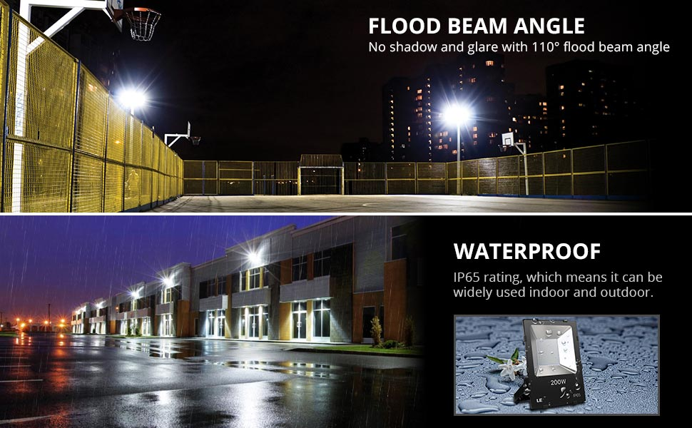 Le 200w super bright outdoor led flood lights 22000 lumen daylight its brightness is up to 22000lm fully meets your lighting needs no shadow dizzy light providing excellent bright light mozeypictures Images