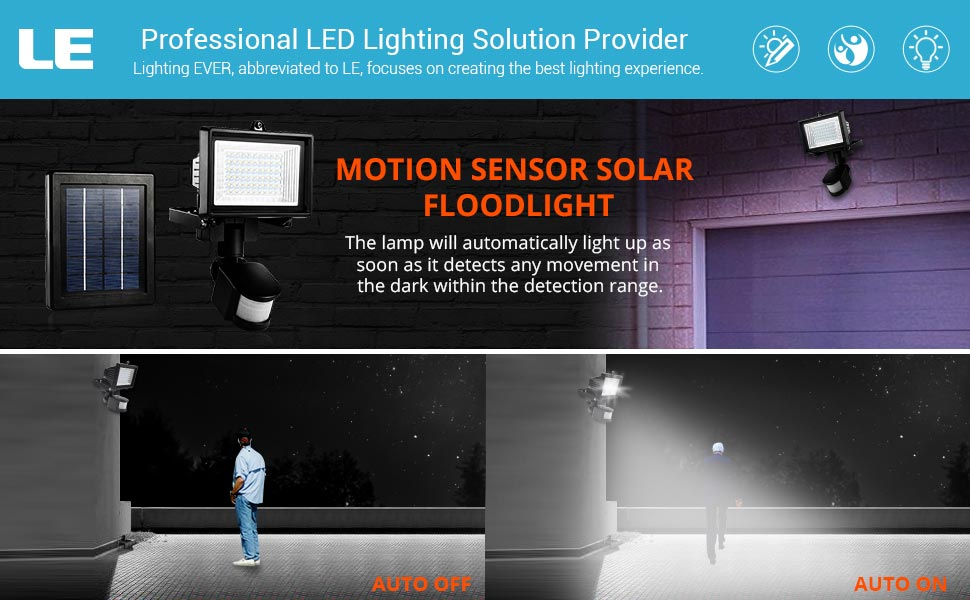 Smart and sensitive detector Settings LUX ----switch toSUN, sensor works all 24 hrs; to MOON the sensor works only at night.