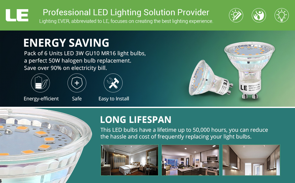this nondimmable mr16 gu10 led bulb consumes just 3 watts emitting 350 lumens of light serving as an effective replacement for a 50 watts halogen bulb