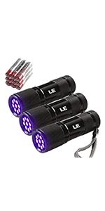amazon com le small uv flashlight portable black light with 21