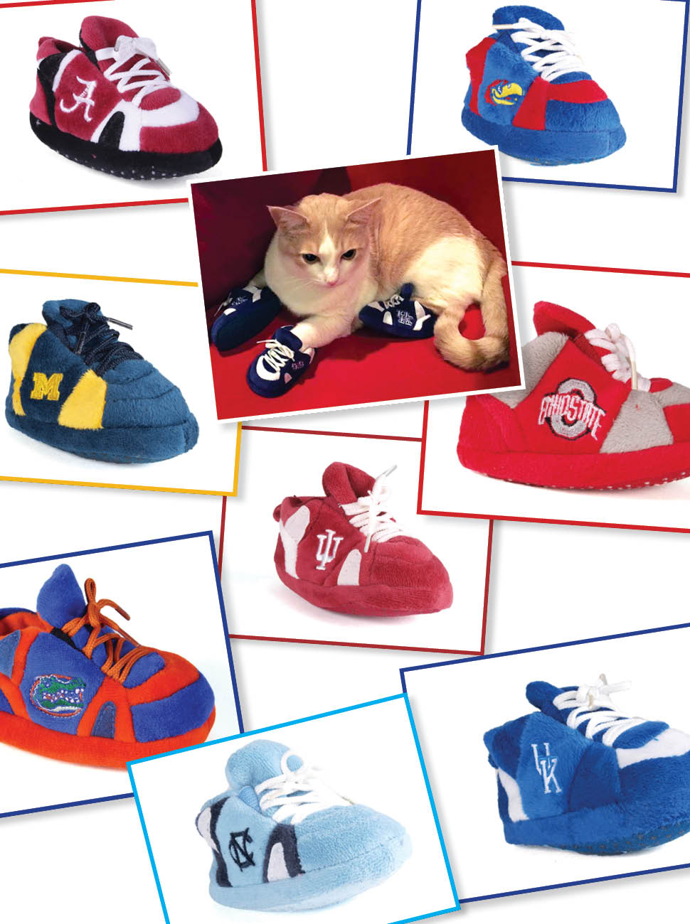 b80c605ce NCAA Baby Slippers