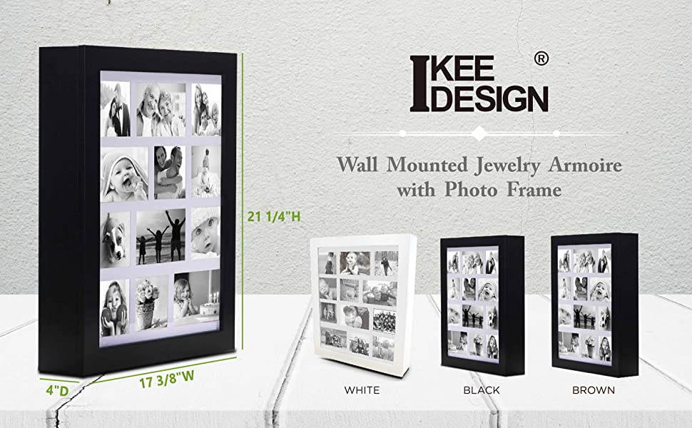 Ikee design jewelry cabinet photo frame wall for Picture frame organization wall