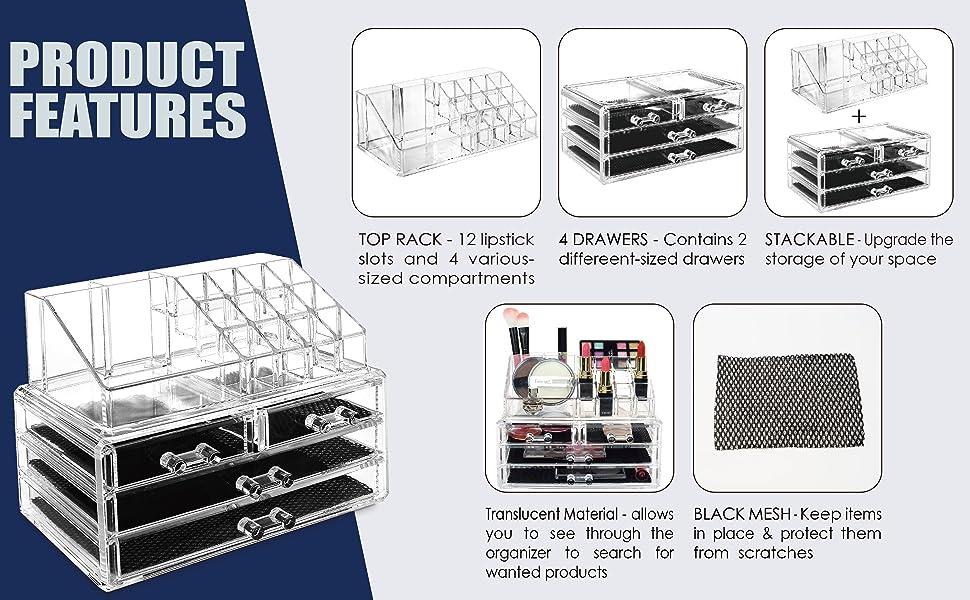 Amazon.com: Ikee diseño cajas exhibidora de ...