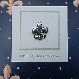 Jim Clift Design Fleur De Lis Lapel Pin