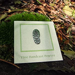 Handcrafted Pewter Hiking Boot Lapel Pin Trail, Outdoor, Nature, Camping,  And Hiker Gifts And Pins