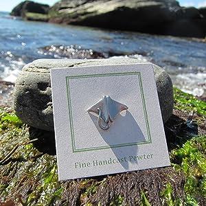 Jim Clift Design Sting Ray Lapel Pin