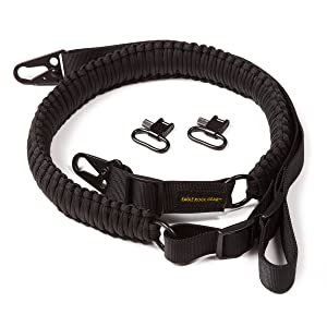 Eagle Rock Gear Black Paracord Gun Sling with Rifle Swivels