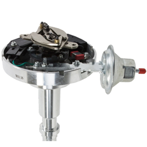 A-Team Performance HEI Complete Distributor 65K Coil Compatible with AMC  Jeep V8 304 360 390 401 One Wire Installation Red Cap