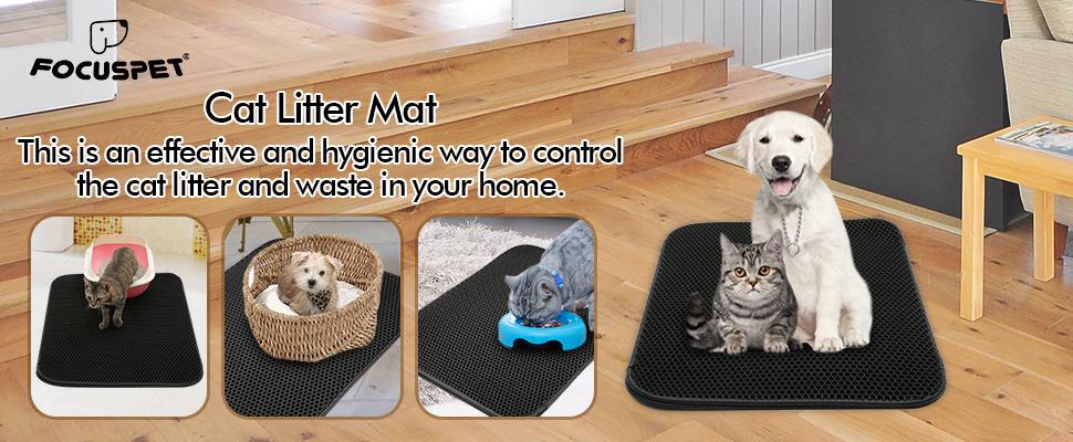 Amazon.com: FOCUSPET Trampa de arena higiénica para gatos ...
