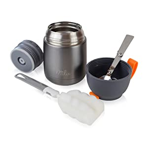 milu thermos food jar stainless steel vacuum insulated for food hot cold kids