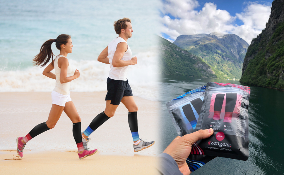 Calf Compression Sleeves for Men Women - Calf Support Brace for Shin Splints, Running, Cycling