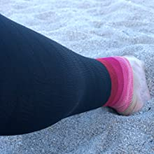Pink Red Calf Sleeves for Women and Men