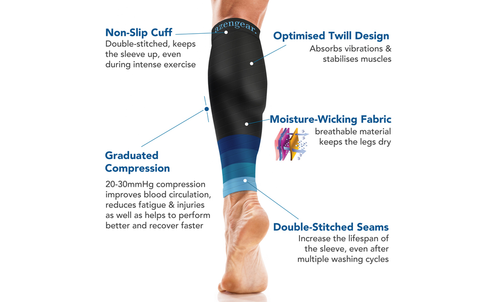 Calf Compression Sleeves for Men & Women - Calf Brace Support - Compression Calf Guards Leg Sleeves