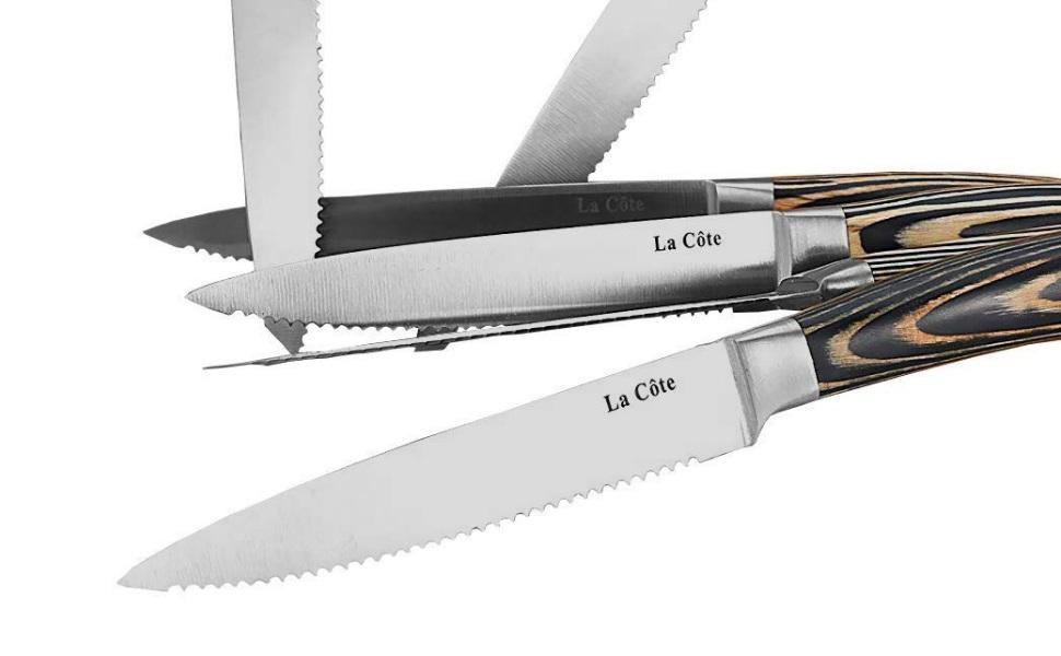 Amazon.com: La Cote 6 piezas juego de cuchillos de carne ...