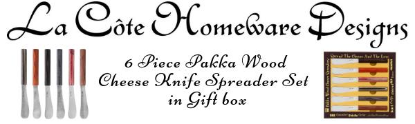 pakka wood cheese knife set