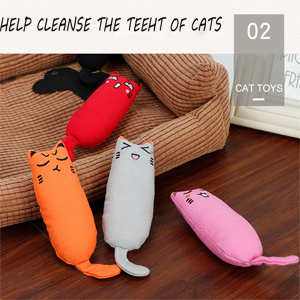 There are 4 pcs catnip toys.