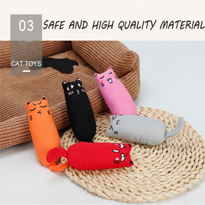 There are 5 pcs catnip toys.