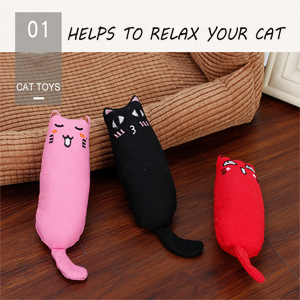 There are 3 pcs catnip toys.
