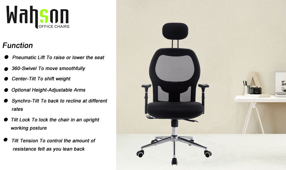 Amazoncom Wahson Mesh Office Chair with High Back Flip up Arms