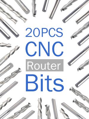 20PCS CNC Router Bits