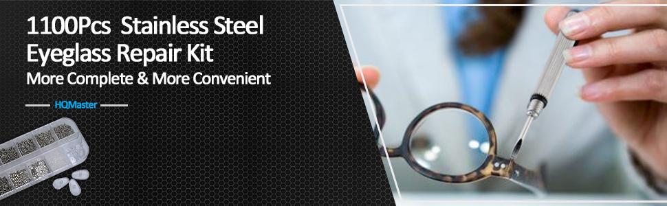 451ce1c02d20 1100Pcs Stainless Steel Eyeglass Repair Kit ---- More Complete   More  Convenient