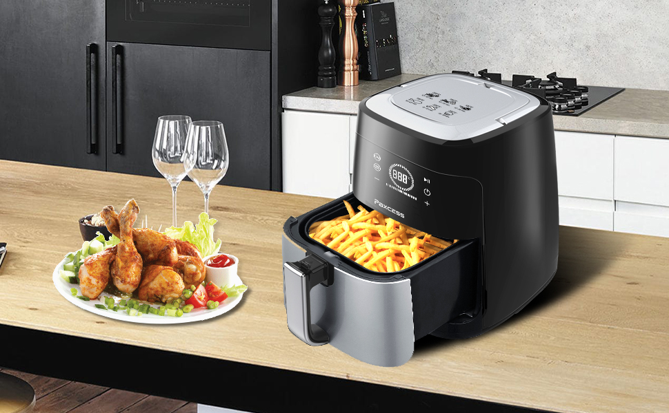 Amazon.com: PAXCESS 3.7 Quart Touch Control Air Fryer Oil ...