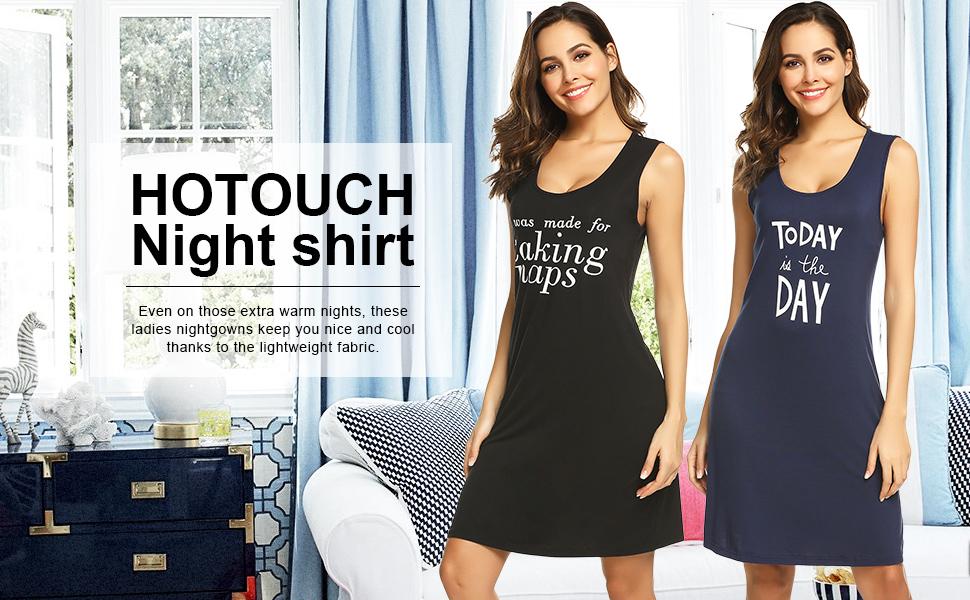 3502743f38 Night Shirt Women s Nightgown Cotton Sleep Shirt Sleeveless Scoopneck Sleep  Tee Nightshirt