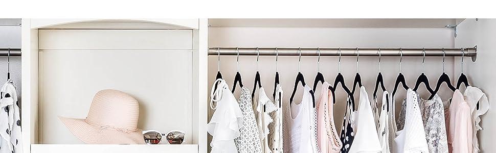 Amazon.com: ZOBER - Perchas para camisas de terciopelo de ...