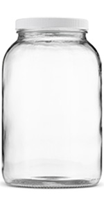 1 Gallon Mason Jar with airtight plastic lid