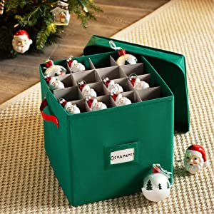Amazon Com Christmas Ornament Storage Box With Lid Protect And