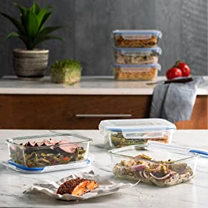 Amazon.com: Superior Glass Meal Prep Containers - 3-pack