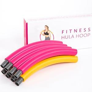 fitness hula hoop for women men children 2lb workout core abs burn calories lose weight