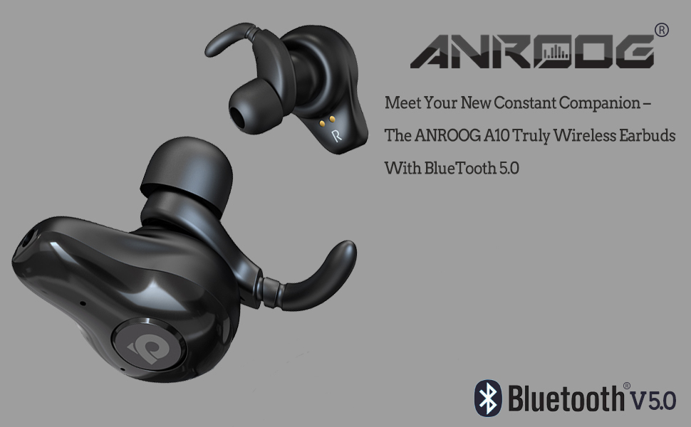 Wireless Earbuds,ANROOG A10 Bluetooth 5 0 Noise Canceling