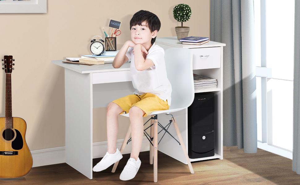 Amazon.com: Topeakmart - Escritorio pequeño para ordenador ...